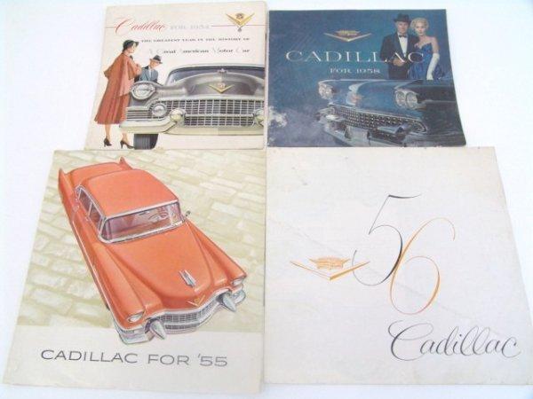 1004: OLD 1954-1958 CADILLAC BROCHURES CATALOGS