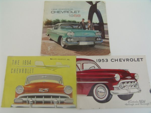 1005: 1953-58 CHEVROLET CHEVY CATALOGS BROCHURES