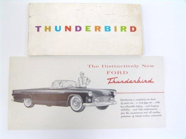 1006: 1960 THUNDERBIRD OWNERS MANUAL & 1954 BROCHURE