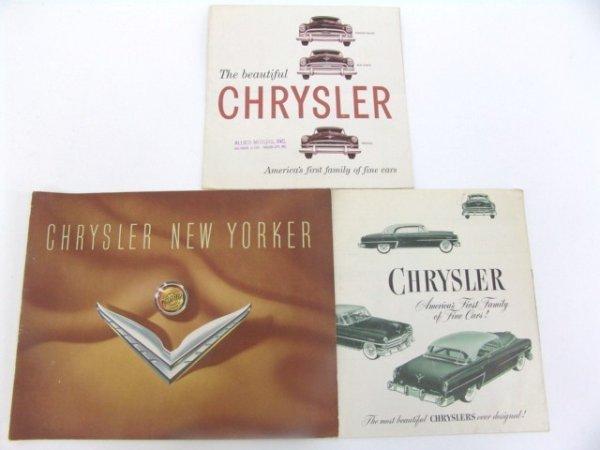 1010: TWO 1953 & 1954 CHRYSLER CATALOG BROCHURES