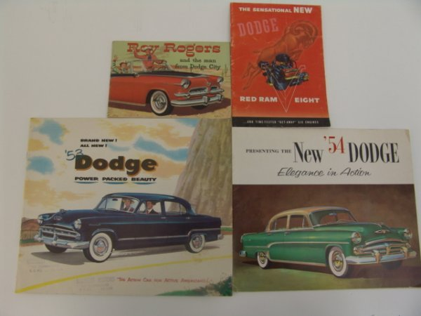 1011: OLD 1950'S DODGE CATALOGS & ROY ROGERS COMIC
