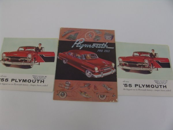 1013: TWO 1955 & 1953 PLYMOUTH CATALOGS