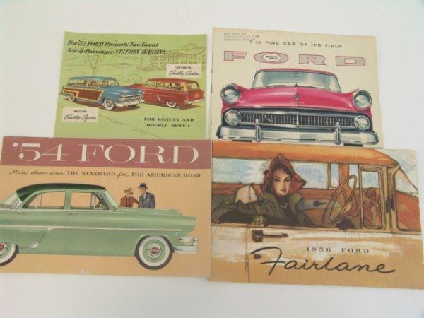 1015: OLD 1952-1956 FORD CATALOG BROCHURES