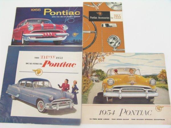 1016: 1953-1956 PONTIAC CATALOG BROCHURES