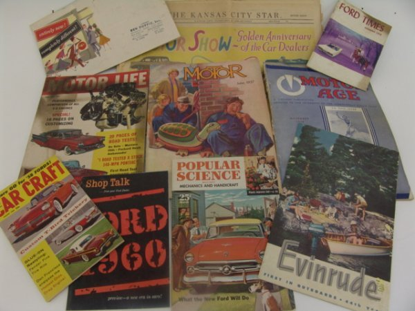 1023: LOT OF 1930'S & 50'S AUTO MAGAZINES & BOOKLETS