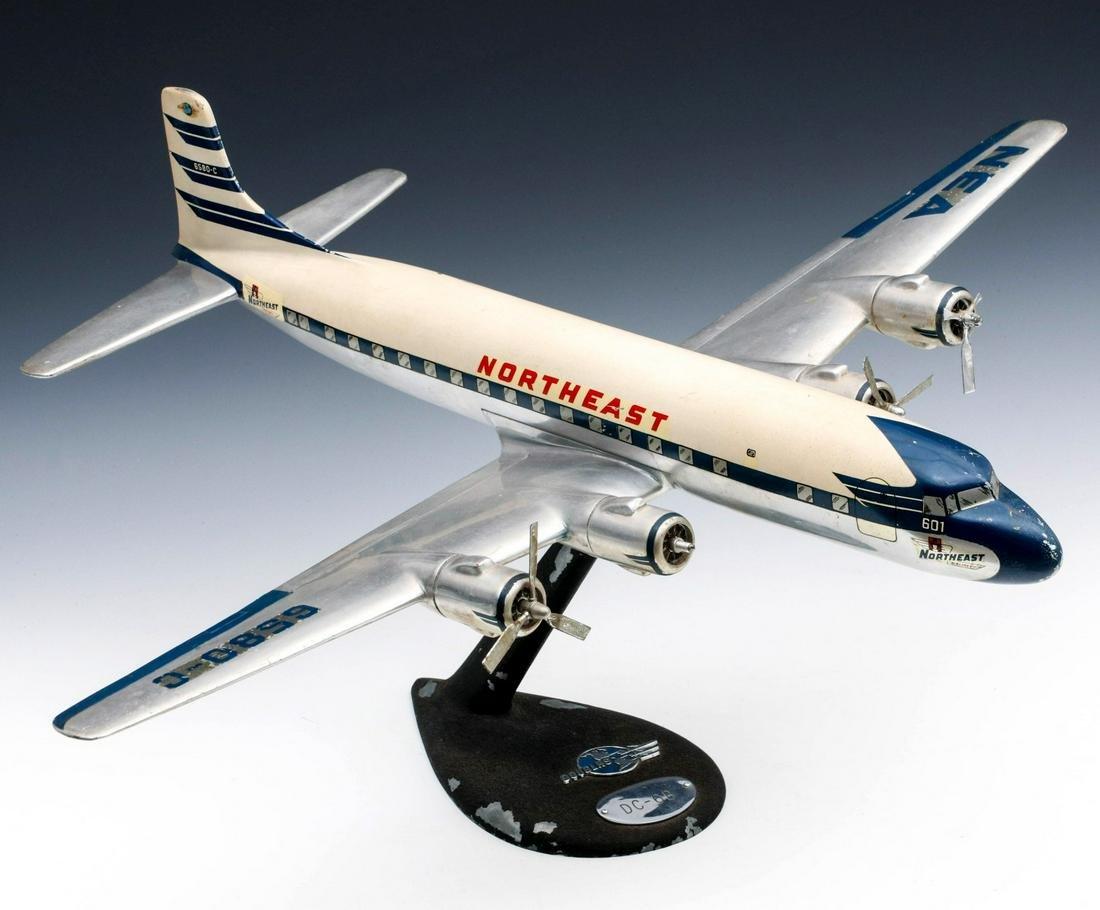 A DOUGLAS DC-6B TRAVEL AGENT DESK MODEL AIRLINER C 1950