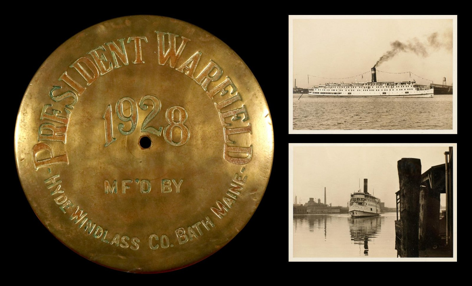 HISTORIC SS PRES. WARFIELD / EXODUS 1947 IMMIGRANT SHIP