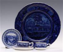 B&O RAILROAD LEVEL PLATE AND CENTENARY DEMITASSE CUPS
