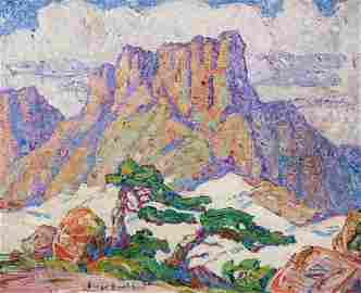 BIRGER SANDZEN (1871-1954) OIL ON CANVAS, COLORADO 1925