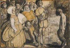 ROSE CECIL O'NEILL (1874-1944) EXHIBITED WORK ON PAPER