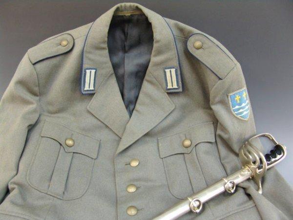 9: EAST GERMAN MILITARY TUNIC, PLUS U.S. DRESS SWORD