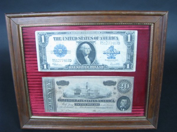 10A: ANTIQUE CURRENCY: CONFEDERATE & 1923 $1