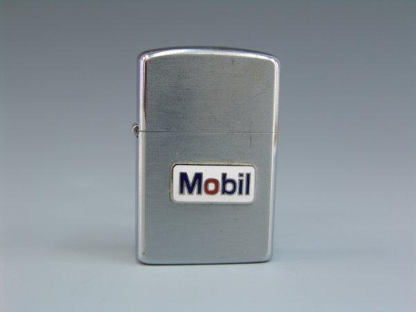 29: MOBIL GASOLINE VINTAGE LIGHTER W/ ENAMEL EMBLEM