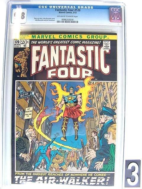 3: Estate Comic:  Fantastic Four 120  (9.8 CGC)