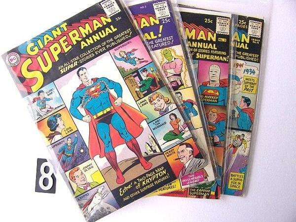 8: Estate Comic: Superman Annuals 1, 2, 3, 4