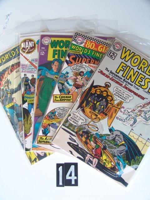 14: Estate Comic:  World's Finest 129, 161, 173, 197, 1