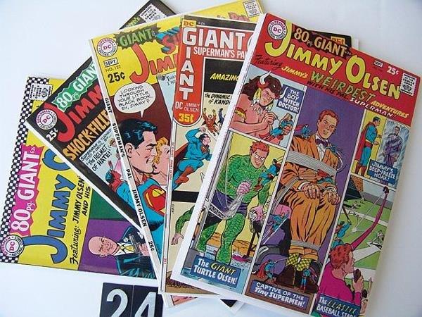 24: Estate Comic:  Jimmy Olsen 95, 104, 113, 122, 140