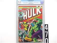 470: Estate Comic: Incredible Hulk 181 (9.4 CGC)