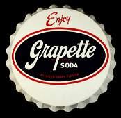 AN EXCEPTIONAL 38-INCH GRAPETTE SODA BOTTLE CAP SIGN