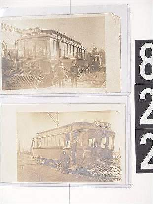 TROLLEY REAL PHOTO POST CARDS