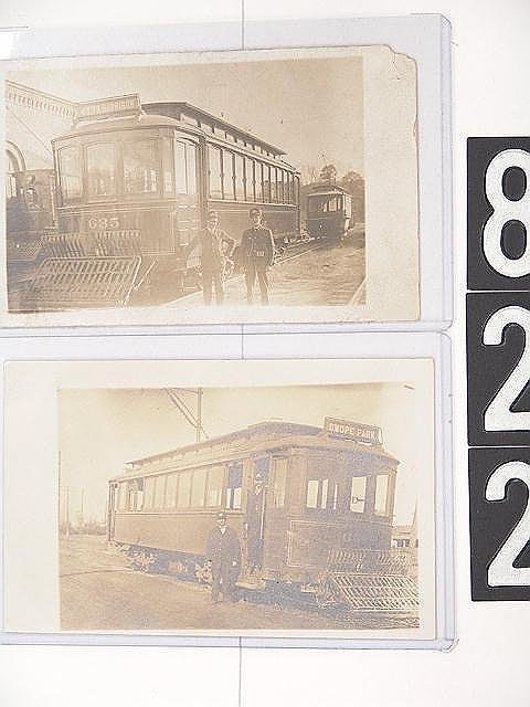 822: TROLLEY REAL PHOTO POST CARDS