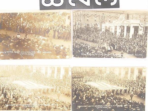 823: KANSAS CITY PARADES REAL PHOTO POST CARDS
