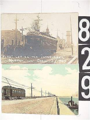 REAL PHOTO AND OTHER POST CARDS OF INTERURBAN