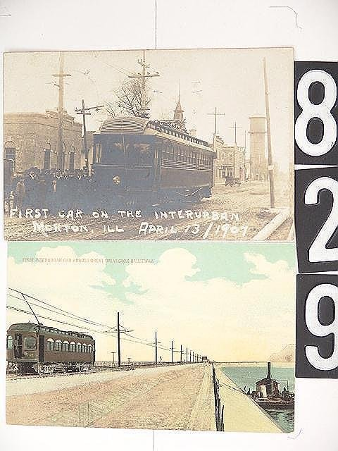 829: REAL PHOTO AND OTHER POST CARDS OF INTERURBAN