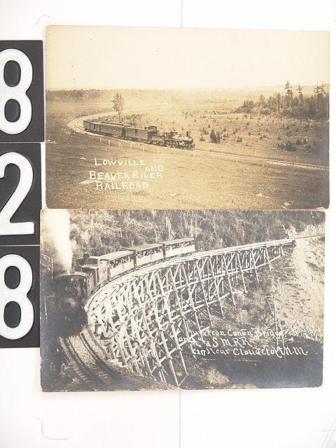 828: THREE RAILROAD VIEW REAL PHOTO POST CARDS