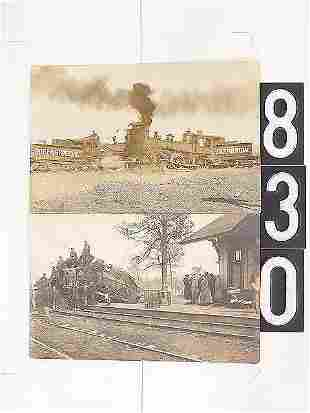 FOUR REAL PHOTO POST CARDS OF RAILROAD DISASTERS