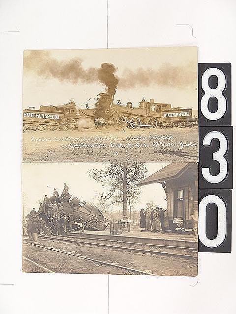 830: FOUR REAL PHOTO POST CARDS OF RAILROAD DISASTERS
