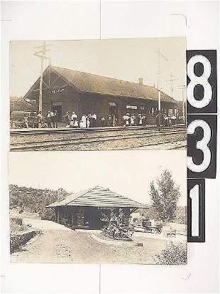 MISSOURI RAILROAD DEPOT REAL PHOTO POST CARDS