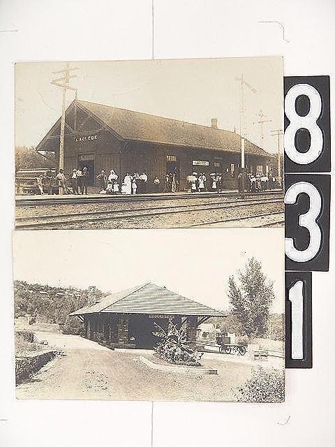 831: MISSOURI RAILROAD DEPOT REAL PHOTO POST CARDS