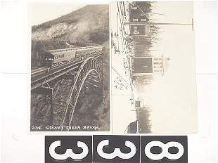 THREE REAL PHOTO RAILROAD POST CARDS
