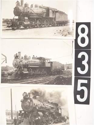 THREE LOCOMOTIVE REAL PHOTO POST CARDS