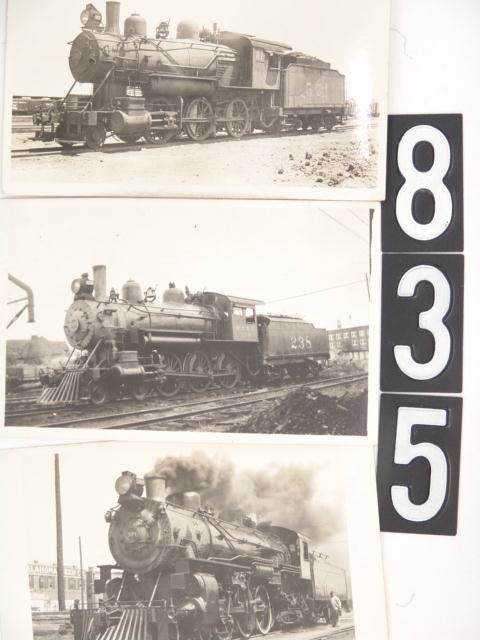 835: THREE LOCOMOTIVE REAL PHOTO POST CARDS