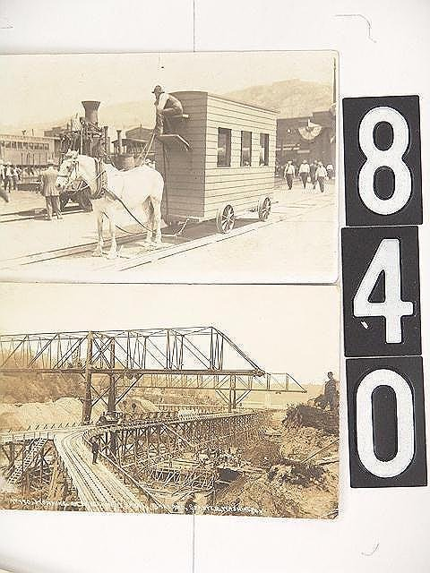 840: GROUP OF INTERESTING RAILROAD REAL PHOTO POST CARD