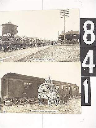 THREE REAL PHOTO RAILROAD MAIL POST CARDS