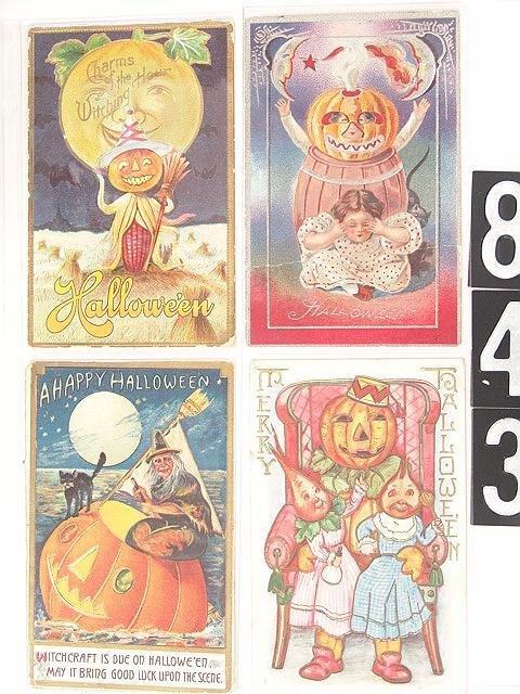843: TEN GOOD OLD HALLOWEEN POST CARDS