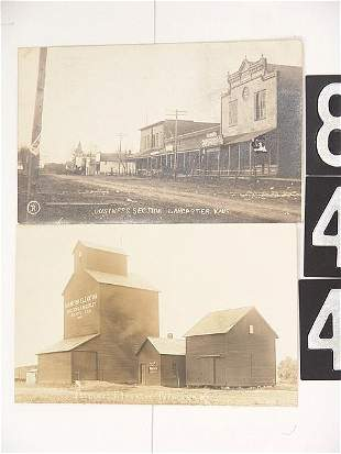 FOUR REAL PHOTO POST CARDS OF KANSAS TOWNS