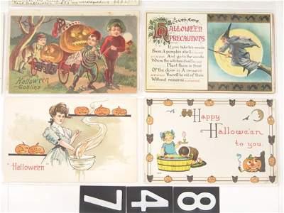 847: TEN (correction 15) HALLOWEEN ANTIQUE POST CARDS