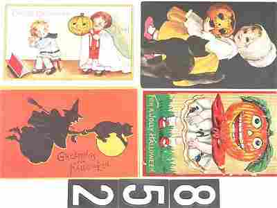 852: 9 OLD HALLOWEEN POST CARDS