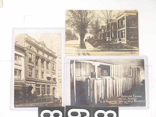 868: 14 REAL PHOTO POST CARDS OF KANSAS CITY