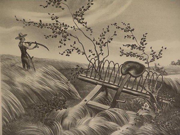 11: JOHN STOCKTON DE MARTELLY (1903 - 1979) LITHOGRAPH