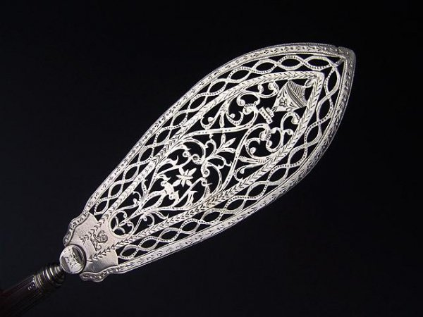 301: BEAUTIFUL HESTER BATEMAN SILVER FISH SLICE, 1787