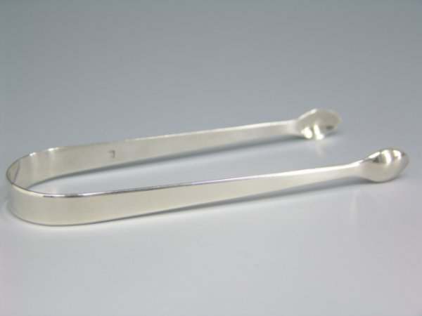 309: PAIR BATEMAN FAMILY SILVER SUGAR TONGS, 1801