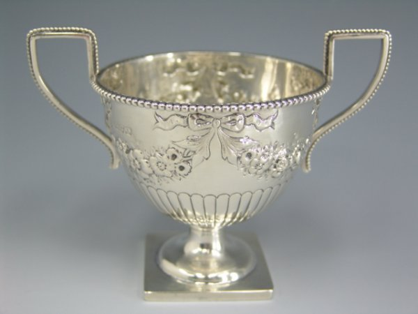317: CHESTER STERLING SILVER OPEN SUGAR, 1907