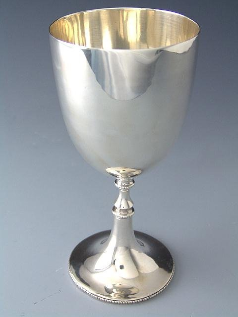 319: COLONIAL INDIA STERLING SILVER GOBLET