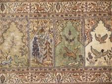 457: A TURKISH KAYSERI TYPE SILK SAPH PRAYER RUG