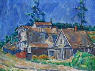 583: CIRCA 1927 OIL ON CANVAS SIGNED MAX WEBER (1881-19